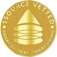 1Source Vetted - Smart Choices, Smart Living | 1Source Vetted 認證標誌 - 明智的選擇,明智的生活